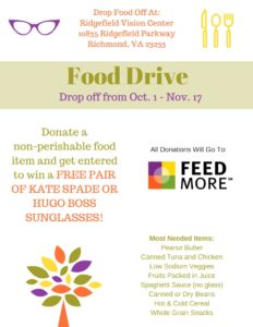 Ridgefield Vision Center Donate Food Items for a Chance to Win Designer Sunglasses